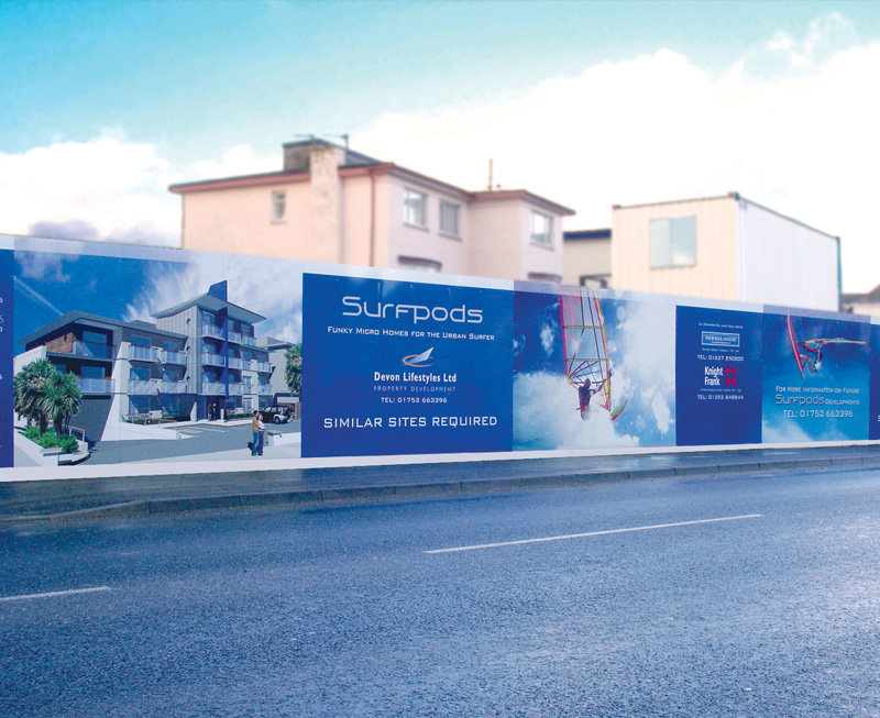 Site hoardings and site signage